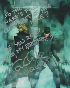 CAM CLARKE Metal Gear Solid Liquid Snake Voice SIGNED 8X10 Photo PROOF