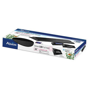 """Aqueon 20"""" LED Deluxe Hood For 10 gallon Aquariums Includes daylight ,moon light"""
