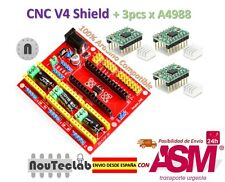 CNC Shield V4 Expansion Board + 3pcs A4988 Stepper Motor Driver for 3D Printer