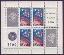 Echte Briefmarken mit Raumfahrt-Motiven aus Rumänien