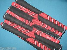 "13 Avon Pro D2x Midsize 1/16"" Oversize Red/Black MULTI COMPOUND Golf Club Grips"