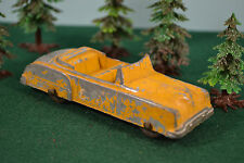 VTG Tootsie Toy Convertible Rat Rod Yellow Worn Paint 4 Seat Convertible