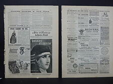 Illustrated London News Ads Two Pages c.1888 S3#6 Cherry Blossom, Redfern Tailor