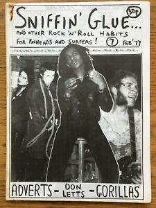 Sniffin Glue #7 RARE UK 1977 punk fanzine - The Adverts, Don Letts, Buzzcocks
