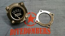 2 1/16 Gauge Panel Bomber style 4bolt  Gasser HotRod Bezel rat rod autometer