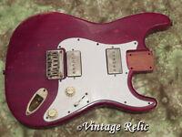 aged RELIC loaded nitro Stratocaster body MAHOGANY w/ Duncan pups + Fender knobs