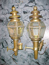 Vintage Pair Of Metal Wall Oil Or Electric Brass? Lamps Lights