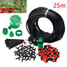 25M Micro Drip Irrigation Watering Automatic Garden Plant Greenhouse System - UK