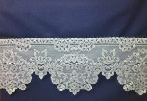"""White Lace Mantle Scarf Artistry 97"""" x 20"""" Livingroom Piano Buffet Dining Room"""