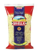 Divella Italian dry pasta Pignolia - 4 bags x 500gr (17.6oz)