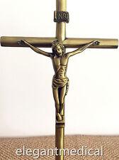 Holy Large VINTAGE Bronze Jesus Crucifixion wall Standing CROSS catholic Gift