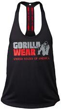 🦍UK M. Gorilla Wear-Nashville Stringer training top. Black/red. Men's. New+Tags