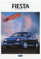 -1- Ford Fiesta Prospekt 1992 3/92 30 Seiten brochure XR2i S CLX Calypso C Auto