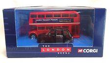 Corgi 2001 London Scene Red Double Decker Routemaster Bus & London Taxi MIB