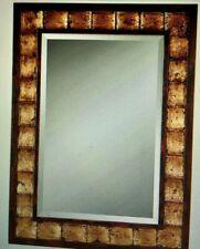 Uttermost Justus Distressed Mahogany Wood Framed Large Wall Art Mirror