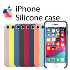Funda silicona para iphone 7 / 8 SE 2020 forro interno microfibra logo grabago