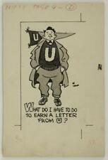 WWII Era Original Art Ink Cartoon Panel Sketch NIFTY Magazine by Robert RC Dell