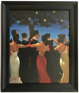 Jack Vettriano - Waltzers Framed Canvas Effect Art Print 51cm x 43cm Black Frame