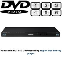 Panasonic DMP-BDT110 3D Slim multi región libre (1-8) DVD reproductor de Blu-Ray D