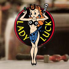 Lady Luck Pegatina Sticker autocollante Hot Rod Consejo Old School negro 90mm