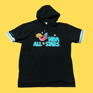 mitchell and ness 1995 NBA Allstars French Terry Short Sleeve hoodie