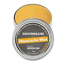 Moustache & Beard Wax Extra Strong Sandalwood 100% Natural Hair Care Organic UK
