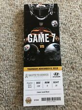 2018 PITTSBURGH STEELERS VS CAROLINA PANTHERS NFL TICKET STUB 11/8