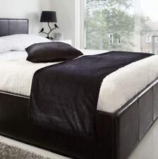 Velvet Bed Runner Set 1 Bed Runner 2 Pcs velvet Cushion Covers Wedding Black