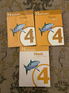 Horizons 4th grade MATH 4 SET Teacher Guide Student Workbooks Books COMPLETE SET