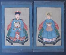 Pair of Paints Ancestors Canvas Chinese
