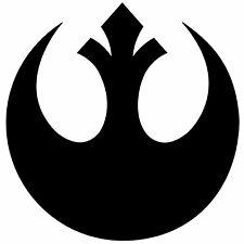 Star Wars Rebel Alliance Decal Sticker, Vinyl Die Cut Logo for Car, Laptop