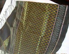 "Long 100% silk scarf Sobbhana 20"" x 76"" Green & gold"