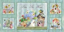1.3 Yards Quilt Cotton Fabric - Spectrix Shawn Jenkins Dream Garden Panel