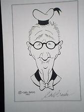 Carl Barks Plakat, Selbstportrait, limitiert, aus Barks Privatbesitz, sehr selte