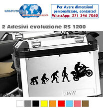 2 Adesivi Stickers Moto BMW R 1200 1150 1100 800 650 gs valigie EVOLUTION