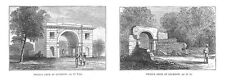 INDIA Neils Arch at Lucknow - Antique Print 1886