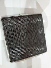 """Black & Silver Tone Cigarette / Card Case 3 1/2"""" x 4"""""""