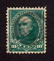United States stamp #258, used, VF, perfect centering, SCV $40