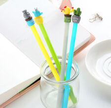 New 2pcs Cactus Design Gel Pen Ballpoint Signature Pen Office School Supply FR