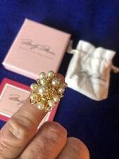 Marilyn Monroe jewelry collection Ring Size 6 14k Over Bronze Pearl Cluster