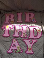 Strawberry Shortcake Vintage 1981 Paper Happy Birthday Banner SSC w/string Pink