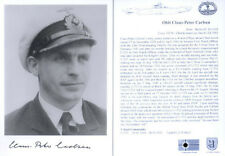 UB9 U-boat Captain CARLSEN hand signed photograph