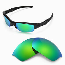 New WL Polarized Emerald Replacement Lenses For Oakley Flak Jacket Sunglasses