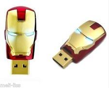 New 16 GB Avengers  Iron Man Gold Memory Stick  USB 2.0  Flash Drive