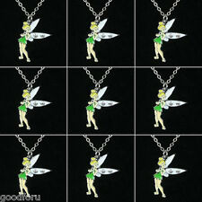 Lot wholesale 9 Tinker bell Fairy Necklaces Birthday Party Girls Favor Gifts BIN