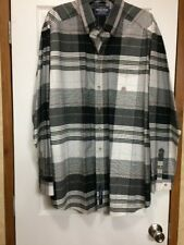 Rough Stock Western Button Front Black White Gray Red Yellow Blue Plaid XXL