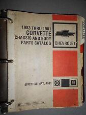 GM Chevrolet CORVETTE - 1953 à 1981 : parts catalog