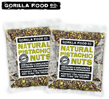 Gorilla Food Co. Pistachios Shelled Raw Kernels Twin Pack - 2 x 2LBs