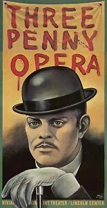 Original Vintage Poster Paul Davis Three Penny Opera 1976 NYC Lincoln Center