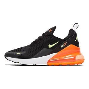 Nike Air Max 270 Kinder Sneaker schwarz orange Größe 38,5 CV9641 001
